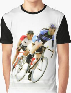 Cyclists into the Last Curve - Color Version Graphic T-Shirt