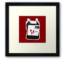 Oil For Blood Framed Print