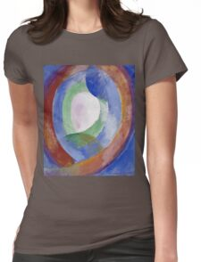 Robert Delaunay -  Forms Circular. Abstract painting: abstraction, geometric, expressionism, composition, lines, forms, creative fusion, music, kaleidoscope, illusion, fantasy future Womens Fitted T-Shirt