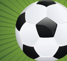 Soccer Ball on Rays Background Sticker