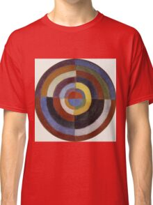 Robert Delaunay - First Disc. Abstract painting: abstraction, geometric, expressionism, composition, lines, forms, creative fusion, music, kaleidoscope, illusion, fantasy future Classic T-Shirt