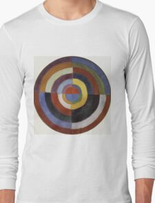Robert Delaunay - First Disc. Abstract painting: abstraction, geometric, expressionism, composition, lines, forms, creative fusion, music, kaleidoscope, illusion, fantasy future Long Sleeve T-Shirt