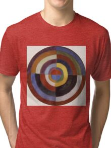 Robert Delaunay - First Disc. Abstract painting: abstraction, geometric, expressionism, composition, lines, forms, creative fusion, music, kaleidoscope, illusion, fantasy future Tri-blend T-Shirt