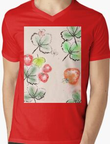Strawberry Mens V-Neck T-Shirt