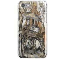 Robert Delaunay - Eiffel Tower With Trees . Abstract painting: Eiffel, Tower , Tour ,  Trees , lines, forms, creative fusion, music, kaleidoscope, illusion, fantasy future iPhone Case/Skin