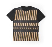 Lines - Abstract - Shadows Formed on Fence Graphic T-Shirt