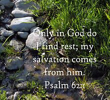 Psalm 62:1 - Rest Throw Pillow by sarnia2