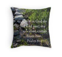 Psalm 62:1 - Rest Throw Pillow Throw Pillow