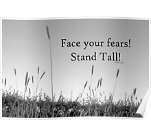 Face your fears inspiration card Poster