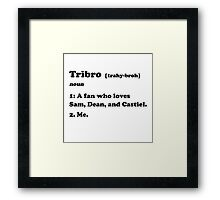Tribro Definintion V2 Framed Print