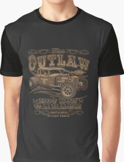 the out law hot rod garage genuine stolen parts logo Graphic T-Shirt