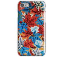 Red and Blue Leafs iPhone Case/Skin