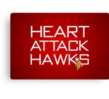 Heart Attack Hawks Canvas Print