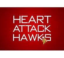 Heart Attack Hawks Photographic Print