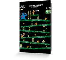Adventure Time Donkey Kong Arcade game 80s retro Greeting Card