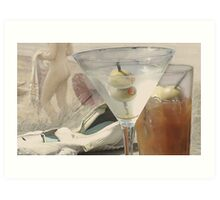 Still life, Curves at the beach Art Print
