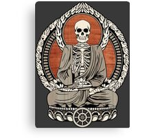 Skeleton Buddha Canvas Print