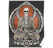 Skeleton Buddha Poster