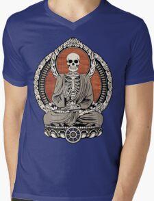 Skeleton Buddha Mens V-Neck T-Shirt
