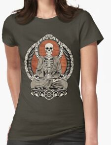 Skeleton Buddha Womens Fitted T-Shirt
