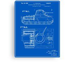 Tank Patent - Blueprint Canvas Print
