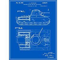 Tank Patent - Blueprint Photographic Print