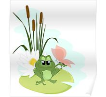 A cute cartoon Frog Poster
