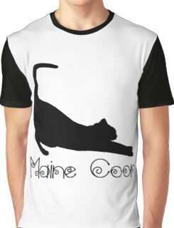 Maine Coon Cat Graphic T-Shirt