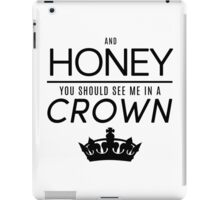 Moriarty 'Crown' Quote - Black iPad Case/Skin