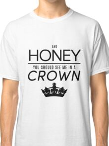 Moriarty 'Crown' Quote - Black Classic T-Shirt