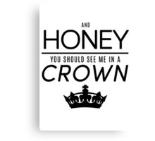 Moriarty 'Crown' Quote - Black Canvas Print