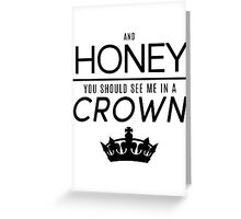Moriarty 'Crown' Quote - Black Greeting Card