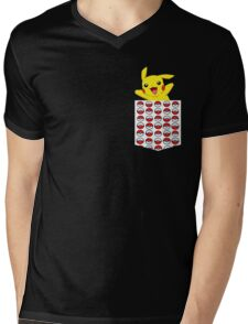 Poketemon Mens V-Neck T-Shirt