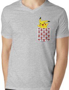 Poketemon Mens V-Neck T-Shirt