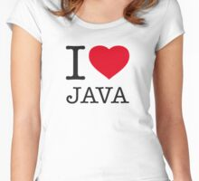 I ♥ JAVA Women's Fitted Scoop T-Shirt