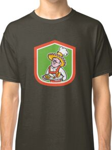 Mexican Chef Cook Shield Cartoon Classic T-Shirt