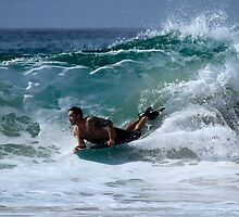 Bodyboarder Duranbah Beach by Noel Elliot