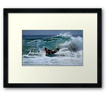 Bodyboarder Duranbah Beach Framed Print