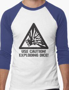 Use Caution! Exploding Dice! Men's Baseball ¾ T-Shirt