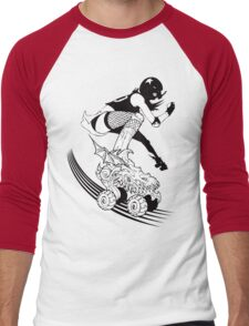 Skates of Wrath Men's Baseball ¾ T-Shirt
