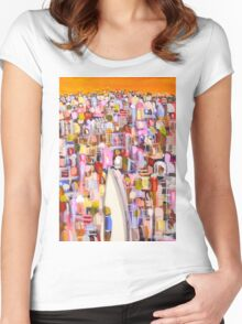 New in town Women's Fitted Scoop T-Shirt