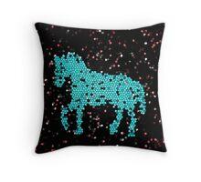 Horse glass Throw Pillow