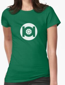 Green TIE Womens Fitted T-Shirt
