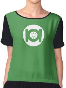 Green TIE Chiffon Top