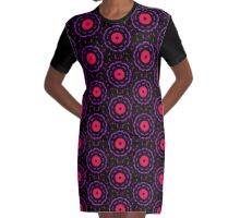 Ballerina Patterns Graphic T-Shirt Dress