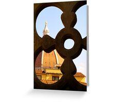 Looking through the Duomo Greeting Card