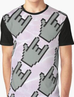 Pixel Hands, Aesthetic Water Graphic T-Shirt