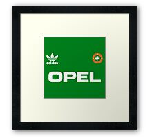 Green and white army Framed Print