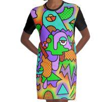 Time Machine Paradox Graphic T-Shirt Dress