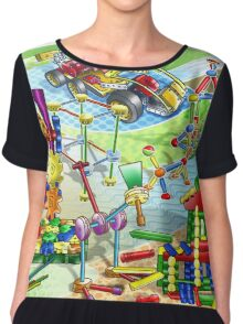 cartoon Chiffon Top